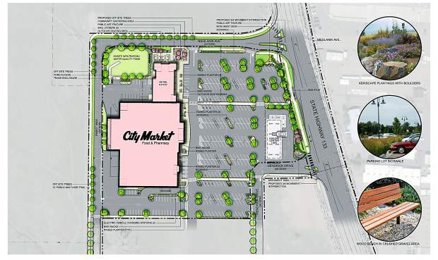 This drawing of the new Carbondale City Market footprint was submitted to Carbondale town government as part of the development proposal that may move forward in 2017.