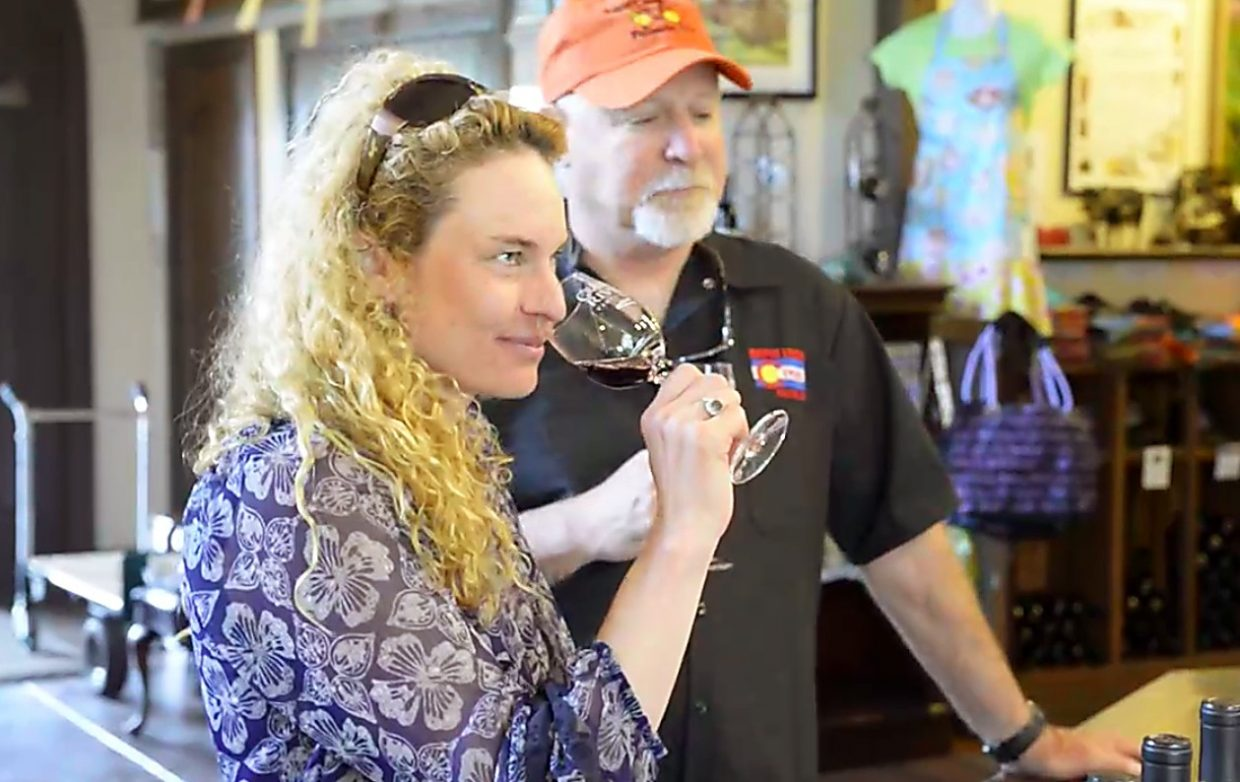 Host Shawna Henderson tastes wine at Grand River Winery, one of several in the Palisade area. Local bike outfitters like Rapid Creek Cycles offer winery maps and even guided tours of the area's vineyards.