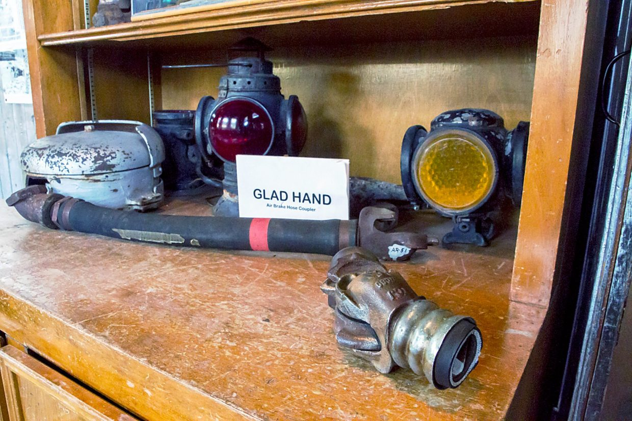 One of the displays at the Glenwood Railroad Musuem.