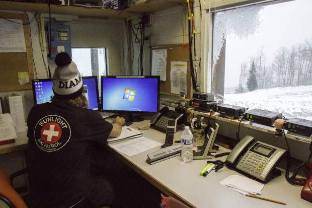 Ski Patrol director Jack Cody checks the forecast for Sunlight and works directly with the White River National Forest to help advise for any possibility of avalanches in the area.