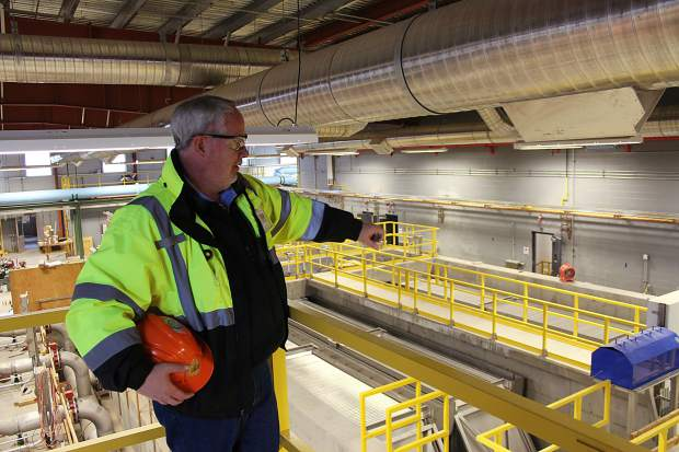 Jim Miller, Rifle's utilities director, gives a tour of the Rifle Regional Water Purification Facility in mid-November.