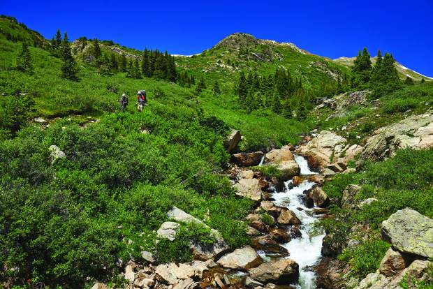 Hikers come down the Lost Man Trail in a recent summer. About 83 percent of Pitkin County's total acreage is federal land. An effort to transfer some of the federal lands into the state's hands could have a huge impact on the landscape around Aspen.