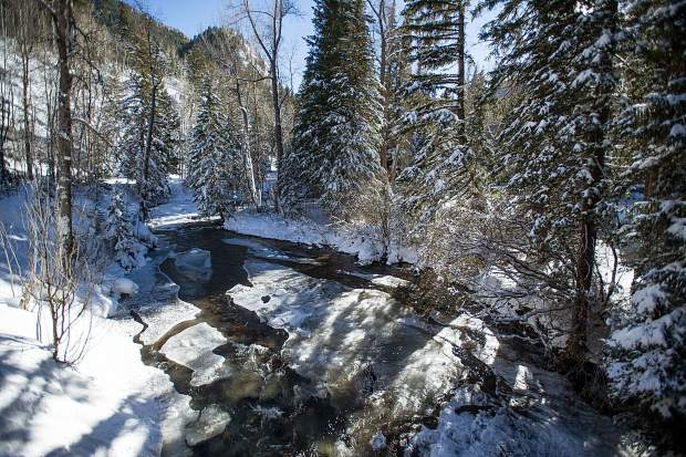 Pitkin County commissioners voted 3-2 Tuesday to oppose the city's renewal of water rights that could lead to the building of dams on Castle and Maroon creeks. Pictured above is Castle Creek from a bridge off Midnight Mine Road 15-A.
