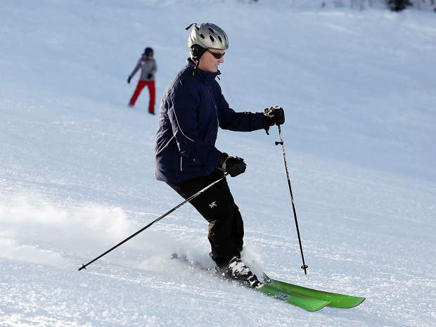 A skier takes to the slopes at Aspen Mountain on Tuesday. Ski areas that use public lands in the White River National Forest pay a fee to the U.S. Forest Service.