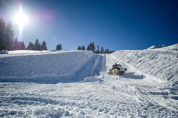 Warm and dry weather earlier this month hampered preparations of the super pipe and jump for big air competitions at the base of Buttermilk, but officials say there will be no problem getting them ship shape for the Winter X Games.