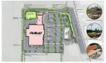 This is a drawing of the footprint of the City Market planned for Colorado 133 and Main Street in Carbondale.