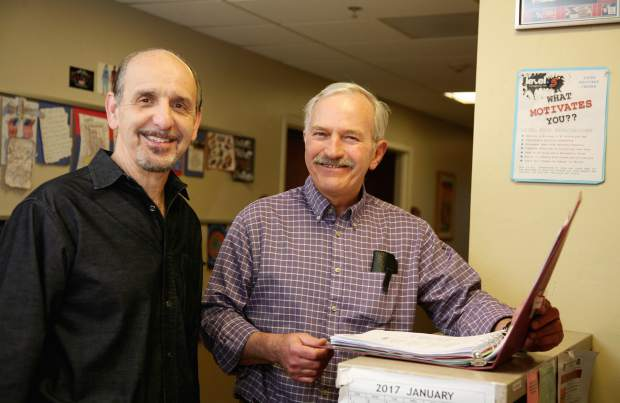 Valley View Hospital Youth Recovery Center co-founder Dr. Paul Salmen, left, and longtime therapist in the program Jim Easton. The YRC marks 30 years this month.