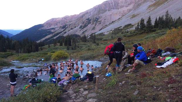 The party scene at Conundrum Hot Springs, one of the most popular destinations in the Maroon Bells-Snowmass Wilderness, helped prompt the Forest Service to work on an overnight visits management plan.