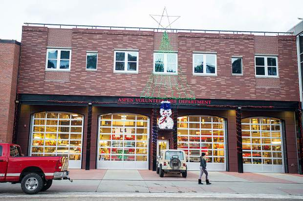 The Aspen firehouse on Wednesday evening.