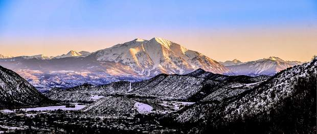 Mount Sopris at sunset is one of the amazing sights in the White River National Forest.