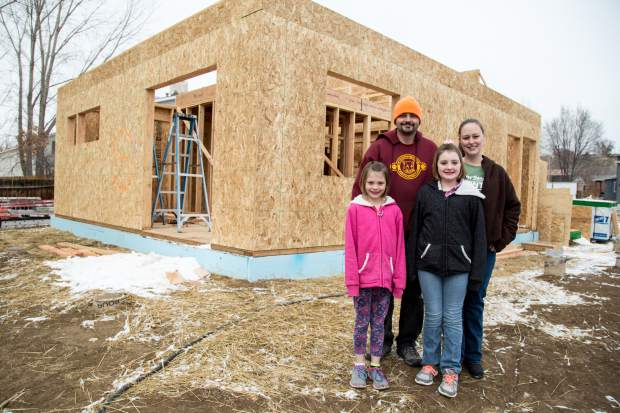 On Saturday, Josh and Renae May, with kids Erin and Kaylynn, got to visit their future home that is being built by the volunteers from Habitat for Humanity in Silt.
