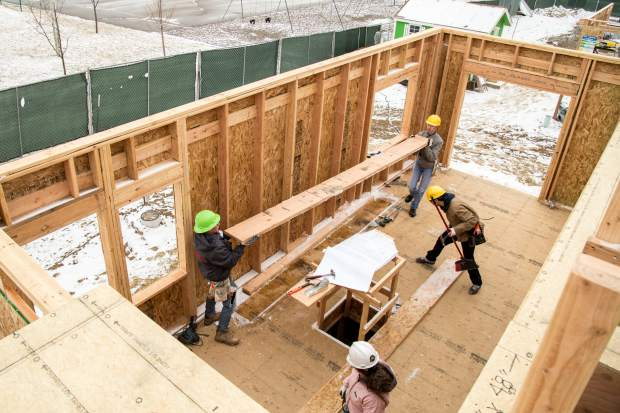 With the help of Habitat for Humanity, about 30 Trio student volunteers from the high school Upward Bound program and the college SSS program, got the opportunity to learn skills that they can use in jobs and careers once they are out of school.