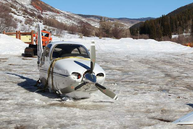 A four-seat Cirrus plane that crash landed in the Flat Tops Wilderness in January had its wings removed and was hauled via helicopter out of the wilderness last week.