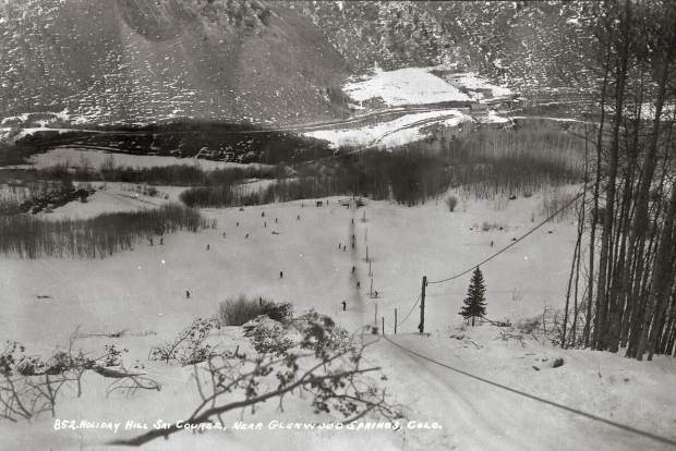 The Holliday Hill rope tow.