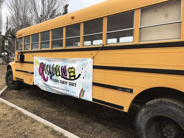 Rosybelle, Carbondale Arts' mobile maker space, recently received a donation from the Susan Gurrentz Fund for the Arts. The donation will fund the bus for four years.