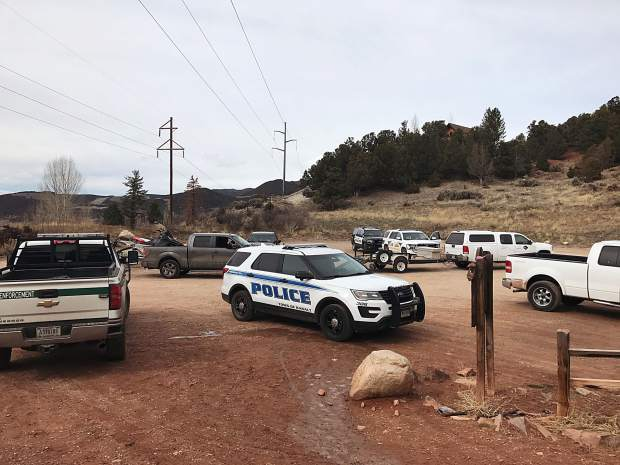The Arbaney Kittle Trailhead became a focal point of the search for the two suspects Tuesday afternoon. A K9 unit and drone were among the tools police used to try to capture the suspects.