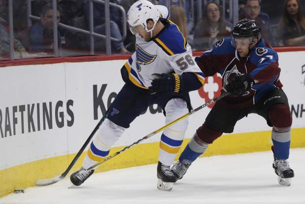 Ouch, Blues consider Paul Stastny out week-to-week