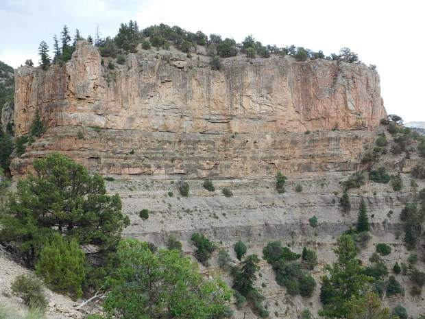 This formation near the Flat Tops marks the end of the Devonian Period.