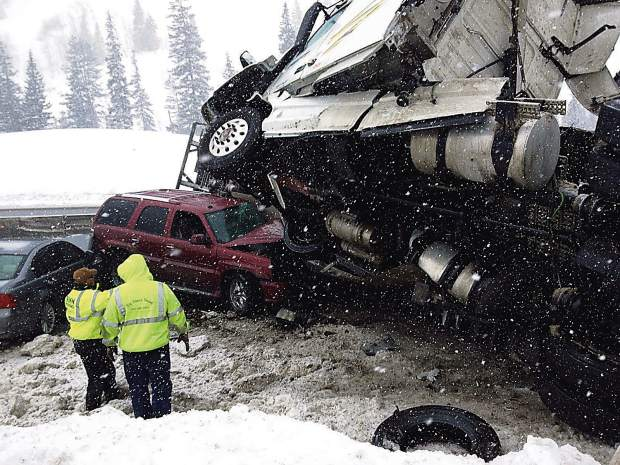 This accident in February 2016, and other like it in the winter, can close Vail Pass for hours at a time. The Colorado Department of Transportation for the past couple of seasons has used