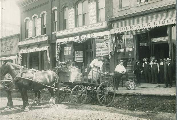 This circa 1895 photo shows Ed S. Hughes liquor wholesale offices before Prohibition in Colorado. Hughes operated at 824 Grand Ave., current location of the Post Independent.