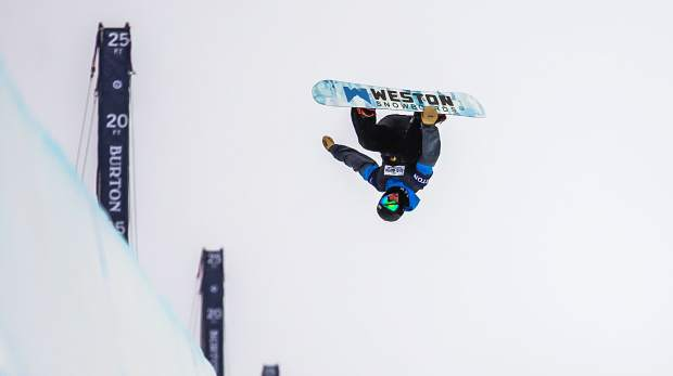 Vail Mountain School senior Rakai Tait airs out of the halfpipe during practice at the Burton U.S. Open on Monday. Tait earned his first-ever Burton U.S. Open invite in last-minute fashion on Saturday.