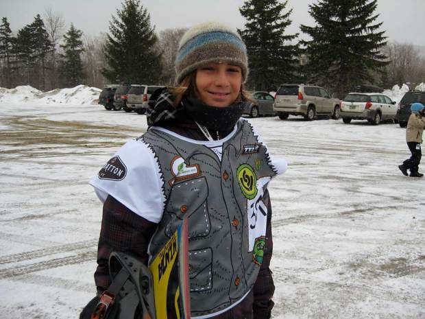 Rakai Tate is pictured here in 2011 at the Burton U.S. Open in Stratton, Vermont. Six years later, the Vail Mountain School student has made it to the main event.