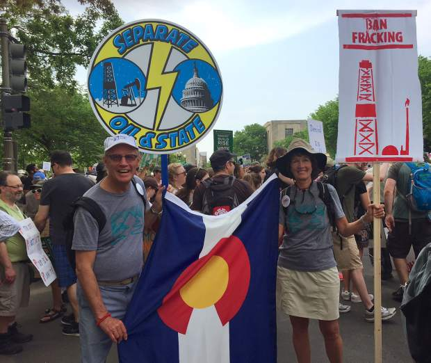 Rick and Lorrie Carlson of Glenwood Springs were among the Colorado representatives at the People's Climate March in Washington, D.C. on Saturday, rallying for action on climate change.