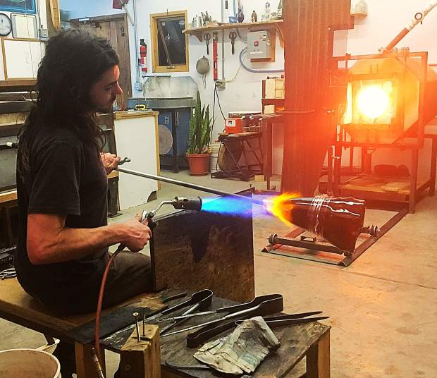 Artists from Spiro Lyon Glass and Carbondale Clay Center collaborated for the exhibit