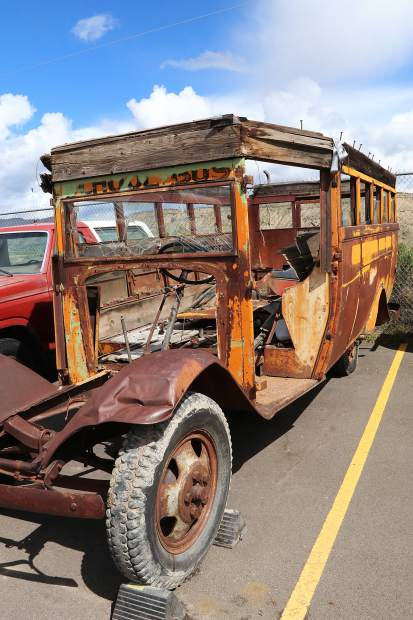 School bus will require significant restoration to bring the historic, rusty vehicle back to its glory days.