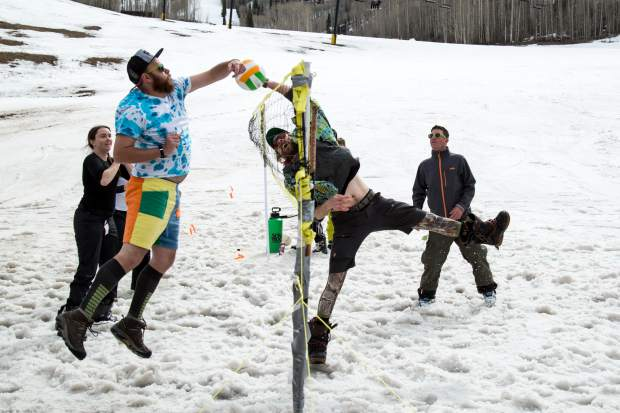 On Sunday, people of all ages came to ski and snowboard for the closing day of Sunlight's 50th season. They ended the year with a rail jam competition, volleyball tournament and live music by local band Whiskey Stomp at the base of the mountain.