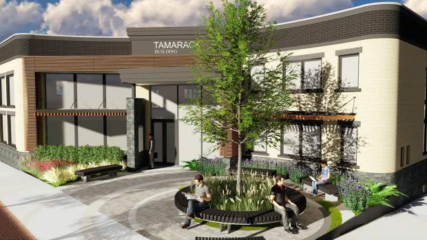 Architect Brian Beazley's concept for the new entryway and courtyard area at the Tamarack Building in downtown Glenwood Springs, which is undergoing a major remodel.