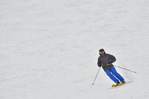 A skier traverses the snow in March at Breckenridge Ski Resort. The Summit ski area accounts for 21 of the county's 58 total deaths since the 2006-07 season as well as all five accidental ski-related fatalities this winter.