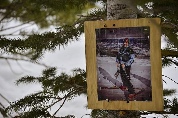 A memorial posted to a tree at the intersection of the Lower Boneyard run and Frosty's Freeway at Breckenridge Ski Resort pays tribute to skier Sean Haberthier. The 47-year-old Denver resident became the state's third death this winter, and second of five this season at the Summit County ski area, after colliding with a tree on Jan. 12, 2017.