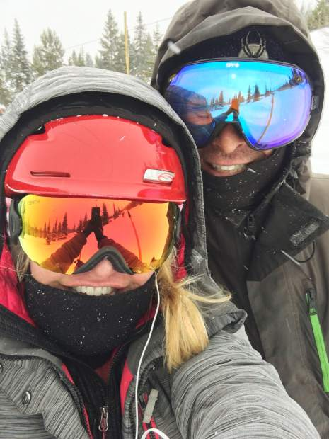The day before Denver resident Sean Haberthier, right, died after colliding with a tree at Breckenridge Ski Resort, he and close friend Kristine Gustafson skied together for nearly the last time. April 12 marked the three-month anniversary of his death.