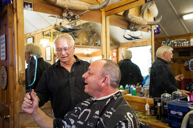 Scott Picard likes the outcome. Lonnie Bones has been a barber in Basalt for 25 years as of April 15.