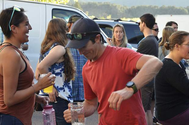 Beer and music were plentiful at Roaring Fork Beer Co.'s Friday party — enough so to elicit the sporadic jig.