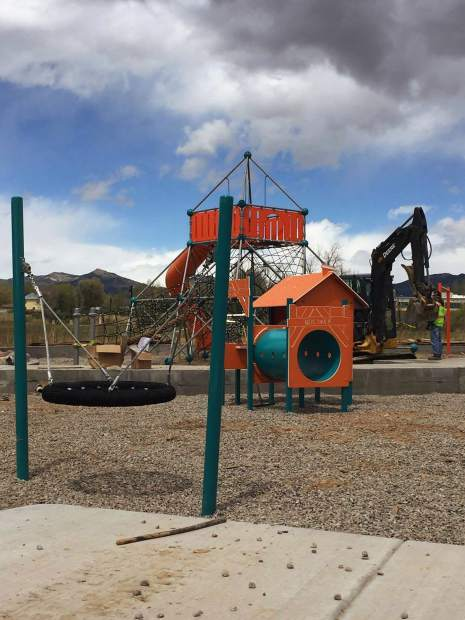 Crews started working on the Centennial Park playground earlier this spring as All-Around Recreation has been contracted to percure and install the equipment.