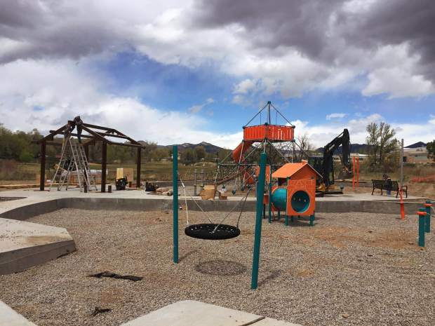The new playground at Centennial Park in Rifle is set to open by Memorial Day later this month.