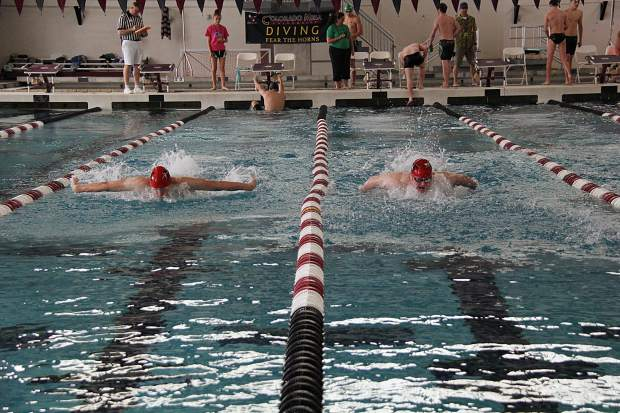 Demons dominate the pool at cmu - West mesa high school swimming pool ...