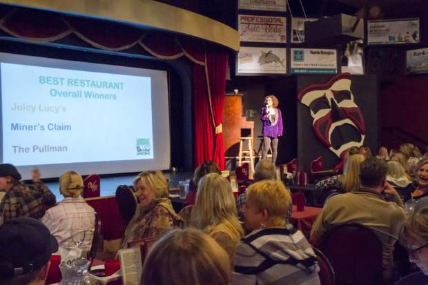 Becky Levin announces the 2017 Post Independent Locals' Choice winners Thursday at the Glenwood Vaudeville Revue. A complete list of winners can be found in today's Post Independent.