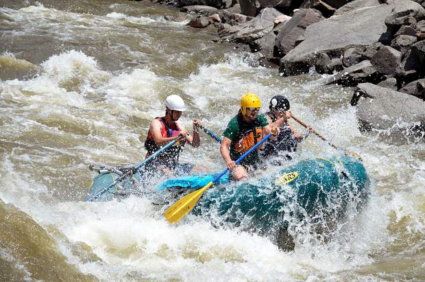 Private boaters, too, were making the Shoshone run in a narrower raft.