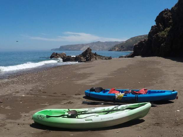 Kayaking from beach to beach on the Channel Islands provides views of how southern California once was.