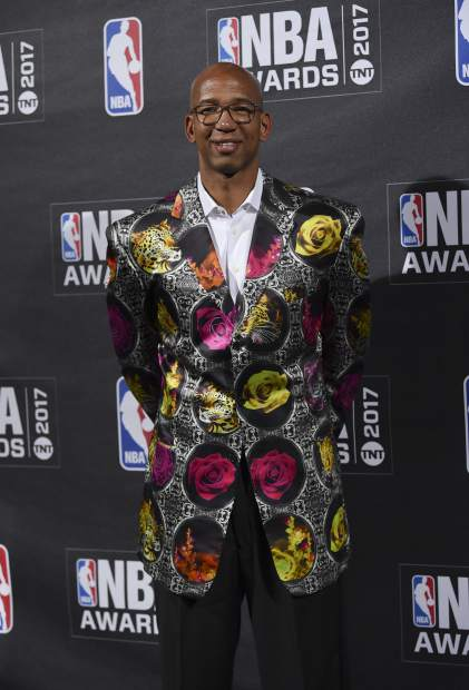 Sager Strong Award winner, Monty Williams, poses in the press room at the 2017 NBA Awards at Basketball City at Pier 36 on Monday, June 26, 2017, in New York. (Photo by Evan Agostini/Invision/AP)
