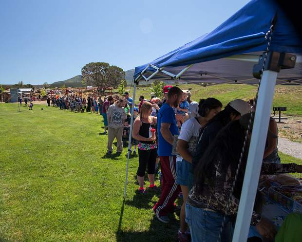 Over 300 people were estimated to have shown up at the unveiling as the food service ran out of food by the end of the day.