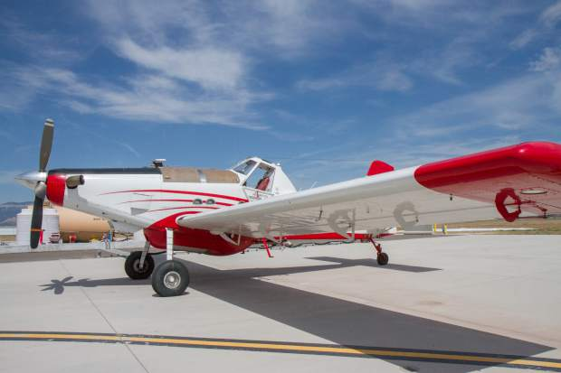 The Single Engine Air Tanker (SEAT) was on display during the 2017 media day at the Rifle airport.