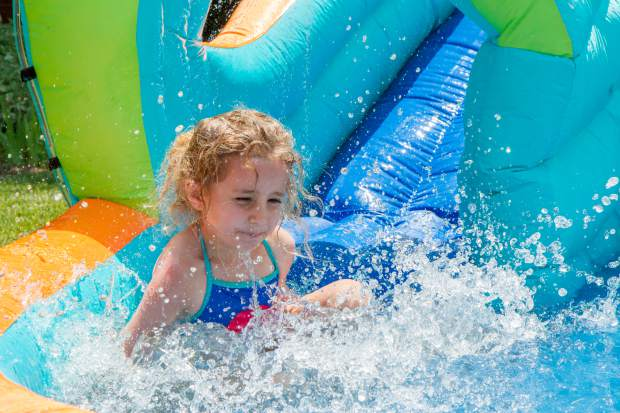 Kids of all ages were invited to cool off and enjoy multple water features at the Glenwood Springs Community Center H2O Day.