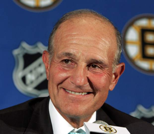 FILE - In this July 22, 2005, file photo, Boston Bruins owner Jeremy Jacobs smiles during a news conference in Boston. Jacobs was selected to the Hockey Hall of Fame, Monday, June 26, 2017. (AP Photo/Elise Amendola, File)
