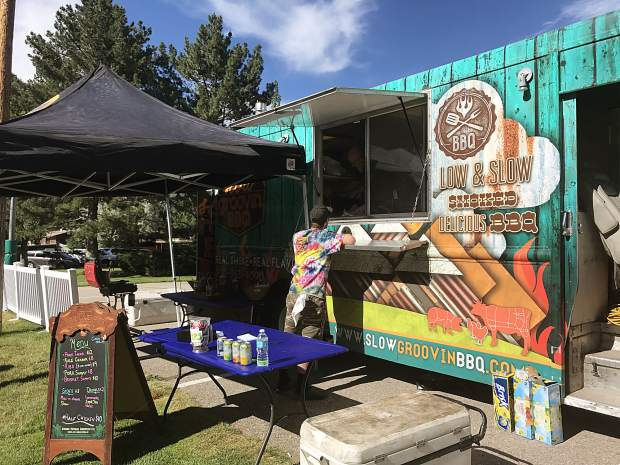 Slow Groovin' BBQ food truck is part of the Glenwood Market beer garden.