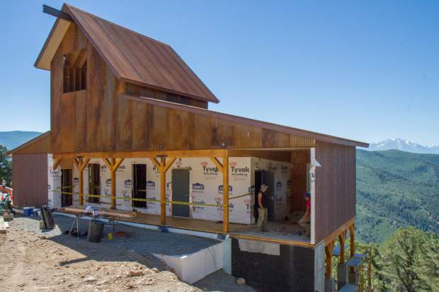 The entry building to Glenwood Caverns Adventure Park's much anticipated Haunted Mine Drop Ride has taken shape as the park nears final stages of preparation on the attraction.