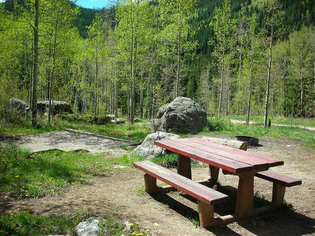 The Fulford Cave Campground in Eagle County is one of several developed campsites the White River National Forest recently put up for private-management permit starting January 2018.